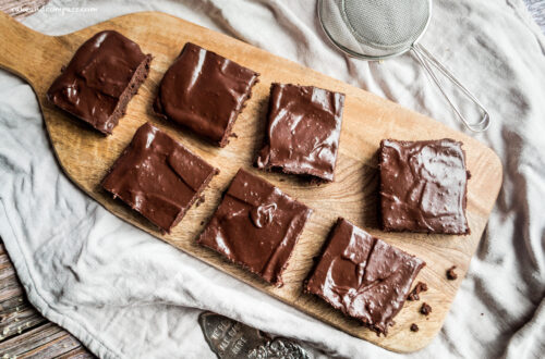 Vegan Backen - Rezept für Schoko-Brownies mit Fudge